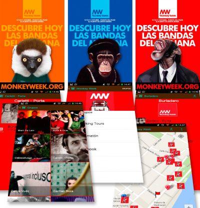 APP WorldWalking Tour y Monkey Week 2015